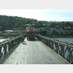 Holzplankenbrücke m. Gegenverkehr