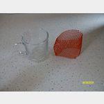 das Glas und der Schutz seperat