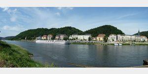 12 - Blick auf Bad Schandau an der Elbe