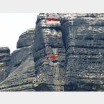 10 - zwei Kletterer am Teufelsturm an der Elbe zwischen Bad Schandau und Schmilka