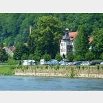 13 - Stellplatz in Bad Schandau von der anderen Seite der Elbe