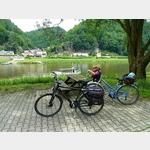 6 - Mittagsrast gegenüber von Schmilka an der Elbe