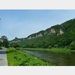 7 - die Schrammsteine zwischen Bad Schandau und Schmilka an der Elbe