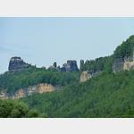 8 - die Schrammsteine zwischen Bad Schandau und Schmilka an der Elbe