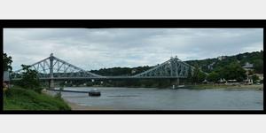 21 - Dresden, Loschwitzer Brücke, das Blaue Wunder