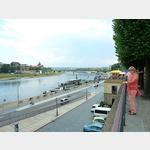 16 - Dresden, Blick von der Brühlschen Terrasse zur Carolabrücke