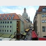 17 - Dresden, Blick von der Brühlschen Terrasse zur Frauenkirche