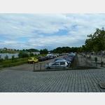 10 - Riesa, Parkplatz an der Elbe, auch Wohnmobile