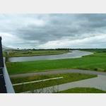 4 - Blick von der neuen Brücke über die Elbe hinüber nach Mühlberg