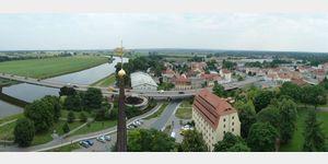 30 - Torgau, Schloss Hartenfels, Blick vom Hausmannsturm