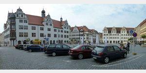 35 - Torgau, Marktplatz mit Rathaus