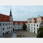 25 - Torgau, Schloss Hartenfels, Blick vom Wendelstein auf den Innenhof