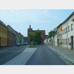 7 - Ortsdurchfahrt und Kirche in Dommitzsch