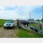 16 - technisches Hilfswerk im Einsatz bei Dommitzsch an der Elbe