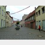 15 - Coswig, Fußgängerzone, im Hintergrund das Rathaus