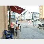 7 - Kaffeepause am Anfang der Fußgängerzone in Dessau