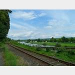 9b - Blick auf den Stellplatz in Höxter von der Brücke über die Weser