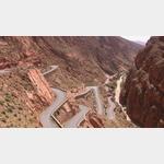 hinauf zur Dades-Schlucht in Marokko
