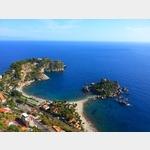 3 - Blick auf die Isola Bella unterhalb von Taormina